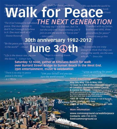 Walk for Peace 2012 poster